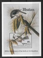 "BHUTAN 1985 Birds ""John James Audubon, 200th Anniversary Of The Birth"" - Otros"