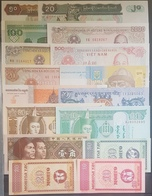 Banknotes Lot From Asia, 16 Diff All UNC - Other - Asia