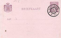 Briefkaart / Jubileumjaar 1898 / Inhuldiging Koningin Wilhelmna I (Stempel Rotterdam 9 Sep. 98) - Periode 1891-1948 (Wilhelmina)