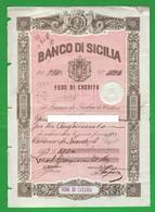500 Lire Banco Sicilia Fede Credito 1888 Catania Pagherò Cambiali - Cambiali