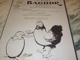 ANCIENNE PUBLICITE SAVON NE DE LA GUERRE BAGDOR   1917 - Other