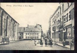 Belgie - Chimay - Grand Place Rue Rogier - Cafe De La Poste Thirion Docouier - 1911 - België