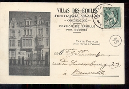 Belgie - Ostende Oostende - Villas Des Etoiles - Rue Royale - Pension De Famille Prix Moderes  - 1914 - België