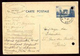 Entier Postal De Amiens Pour Paris En 1940 - N206 - Entiers Postaux