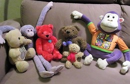 LOT 6 NOUNOURS PELUCHES En TBE Voir Détailles - Cuddly Toys