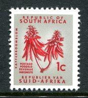 South Africa 1964-72 Re-drawn Definitives - RSA Wmk. Upright - 1c Kafferbloom Flower - P.13½ X 14 - MNH (SG A239a) - South Africa (1961-...)
