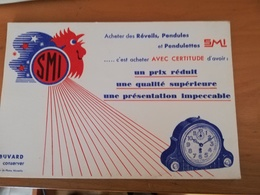 Buvard En Bon état Pub SMI(réveils,pendules) - Buvards, Protège-cahiers Illustrés