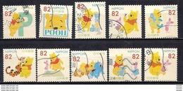 Japan 2017 - Greetings Stamps – Disney - Pooh - Used Stamps