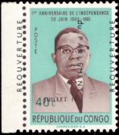 Congo 0447**  Réouverture Du Parlement Surcharge Déplacée MNH - République Du Congo (1960-64)