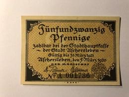 Allemagne Notgeld Aschersleben 25 Pfennig - [ 3] 1918-1933 : République De Weimar