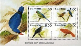 MDB-BK8-373-4 MINT PF/MNH ¤ SRI LANKA 1987 BLOCK  ¤ - OISEAUX - BIRDS - PAJAROS - VOGELS - VÖGEL - AVES - Zangvogels