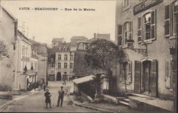 CPA CP Editt Serve 11076 Beaucourt Rue De La Mairie Vue Hôtel De Bourgogne Territoire De Belfort - Beaucourt