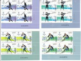 China 2018-32 Olympic Winter Game Beijing 2022-Snow Sports Stamps Block - Winter 2022: Peking