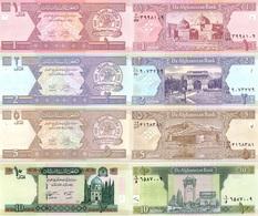 AFGHANISTAN Set Of 1 2 5 10 Afghanis P 64 65 66 67   UNC - Afghanistan