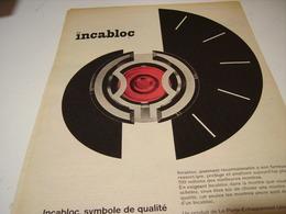 ANCIENNE AFFICHE PUBLICITE L ANGE GARDIEN DE LA MONTRE INCABLOC 1959 - Bijoux & Horlogerie