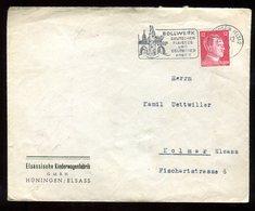 Enveloppe Commerciale De Mulhouse Pour Colmar En 1942 - N220 - Marcofilia (sobres)