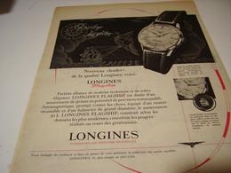 ANCIENNE PUBLICITE MONTRE LONGINES QUALITE 1959 - Autres