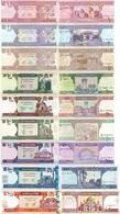 AFGHANISTAN Set Of 1 2 5 10 20 50 100 500 1000 Afghanis P 64 65 66 67 68 69 70 73 74 UNC - Afghanistan