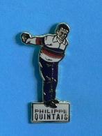 1 PIN'S //   ** PÉTANQUE / PHILIPPE QUINTAIS / NÉ EN 1967 / TRIPLES CHAMPION DU MONDE ** . (Alpes Trophées) - Boule/Pétanque