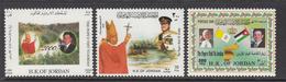 2000 Jordan Visit Of Pope John Paul II Vatican, Flag & Map Of Jordan King Abdullah II Set Of 3 MNH - Jordanië