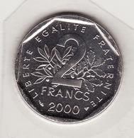 FDC 2 Francs --  Semeuse 2000 -- Scellé Sous Vide -- Fleur De Coins - I. 2 Francs