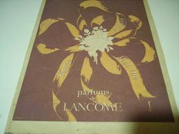 ANCIENNE PUBLICITE PARFUM  DE LANCOME 1943 - Other