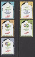 2006 Jordan World Cup Soccer Championships Germany Set Of 5 MNH - Jordan