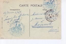 Cachet Intendance Militaire  JE FOUCHER Sur CP De Saint Dizier - Marcophilie (Lettres)