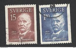 Schweden, 1959, Michel-Nr. 453-454, Gestempelt - Schweden