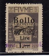 FIUME 1920 1921 EFFIGIE D'ANNUNZIO EFFIGY SOPRASTAMPATO MARCA DA BOLLO REVENUE SURCHARGED USATO USED OBLITERE' - 8. Occupazione 1a Guerra