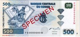 Congo - Pick 96s - 500 Francs 2002 - Unc - Specimen - Congo