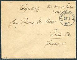 1901 China Boxer Feldpost No 7 Paotingfu Chinakrieg Cover - Berlin Germany - China
