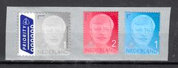 Nederland 2018 Nvph 3708 - 3710, Mi Nr ??, Waarde 1 + 2 En Internationaal ; Koning Willem Alexander, - Periodo 2013-... (Willem-Alexander)
