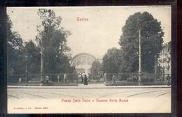 Italië Italy Italia - Torino - Piazza Carlo Felice E Stazione Porta Nuova - 1900 - Italië