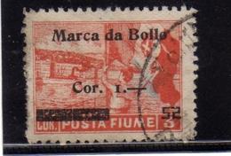 FIUME 1919 1920 ALLEGORIE E VEDUTE SOPRASTAMPATO MARCA DA BOLLO REVENUE SURCHARGED USATO USED OBLITERE' - 8. Occupazione 1a Guerra