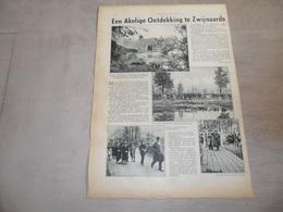 """Origineel Knipsel ( 1267 ) Uit Tijdschrift """" De Stad """" :  Zwijnaerde  Zwijnaarde  Akelige Ontdekking 1934 - Vieux Papiers"""