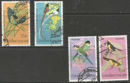 Thailand - 1975 Tropical Birds Used    Sc 727-30 - Thailand
