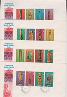 1980 NIUE Festival Of South Pacific Arts Set Of 4 Official FDC's PLUS Set Of 16 MUH Stamps - 4 Scans - Niue