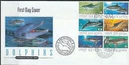 Papouasie Papua New Guinea 2003 FDCYvert 957-962 (°) Oblitéré Used  Cote 11,50 Euro Faune Marine Dauphins Dolfijnen - Papouasie-Nouvelle-Guinée