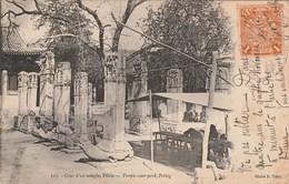 PEKIN Cour D'un Temple 1485J - China