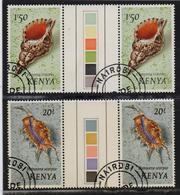 Kenya 1971, Seashells In Gutterpairs With Colourpalet, Vfu. Cv 18 Euro - Kenya (1963-...)