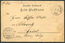 1901 (March 8th) China Boxer Feldpost No 4 Tongku Chinakrieg Postcard - Bruck Germany - China