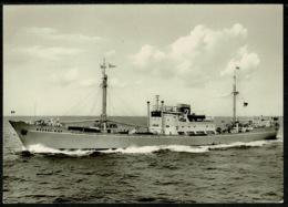 Ref 1239 - Real Photo Ship Postcard - M/V Mossel Bay - Germany - Steamers