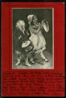 Ref 1239 - Unusual 1901 Germany Postcard - Children Child Musicians - Music Theme - Children