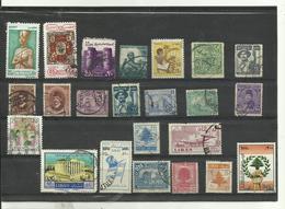 Lot De 23 Timbres ..egypte-liban  Années Diverses. - Vrac (max 999 Timbres)
