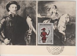 Saint Marin Carte Maximum 1961 Histoire De La Chasse 511 - Lettres & Documents