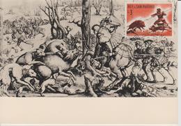 Saint Marin Carte Maximum 1961 Histoire De La Chasse 512 - Lettres & Documents