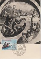 Saint Marin Carte Maximum 1961 Histoire De La Chasse 513 - Lettres & Documents