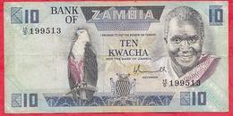 Zambie 10 Kwacha 1980/88  (sign 5) Dans L 'état - Zambie
