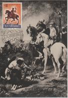 Saint Marin Carte Maximum 1961 Histoire De La Chasse 515 - Lettres & Documents